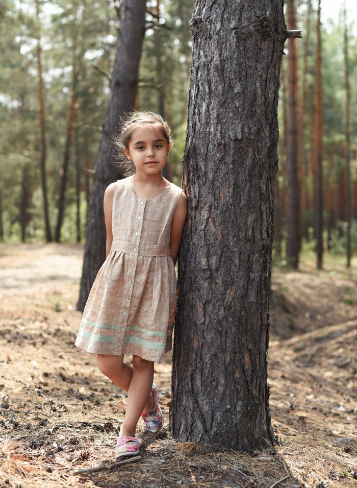 Natural Linen Sundress