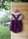 Purple Linen Romper and Cotton Top with Peter Pan Collar