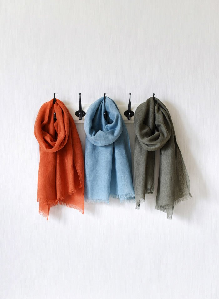 Pure Linen Gauze Scarf for Girls