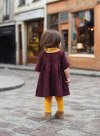 Maroon Flannel Dress