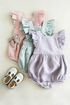 Pale Pink Baby and Toddler Ruffle Romper