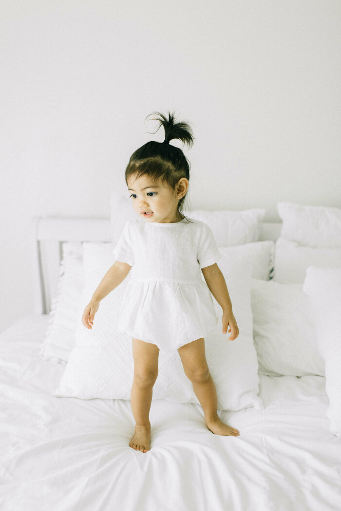 Classic Baby and Toddler Romper with Short Sleeves