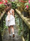 White Linen Pinafore Dress